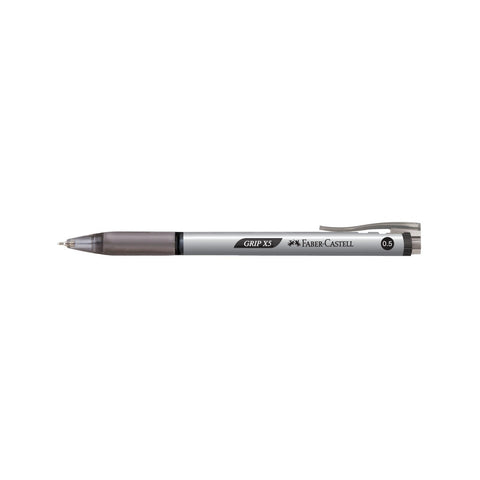 Faber Castell Grip X5 Ball Point Pen | 12 Pens - Black