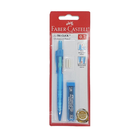 Faber Castell Tri-Click Mechanical Pencil 0.7 with lead | Blue