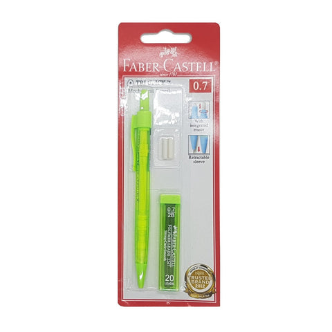Faber Castell Tri-Click Mechanical Pencil 0.7 with lead | Green