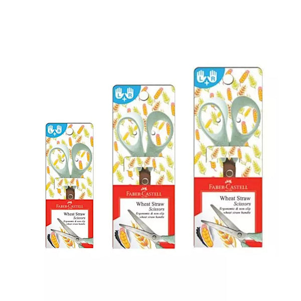 Faber Castell Wheat Straw Scissors | 130mm 150mm 170mm