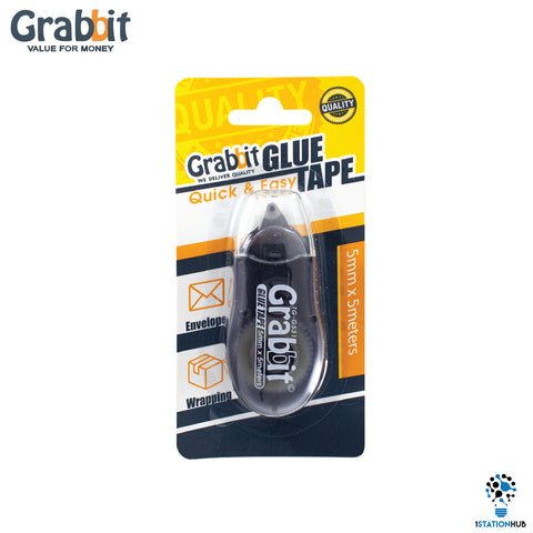 Grabbit Non-Toxic Glue Tape 5mmx5m - Black