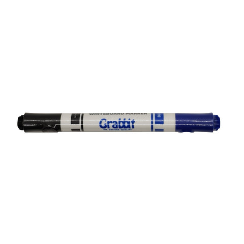 Grabbit Twin-Nib Whiteboard Marker | Dual Colour | Black & Blue