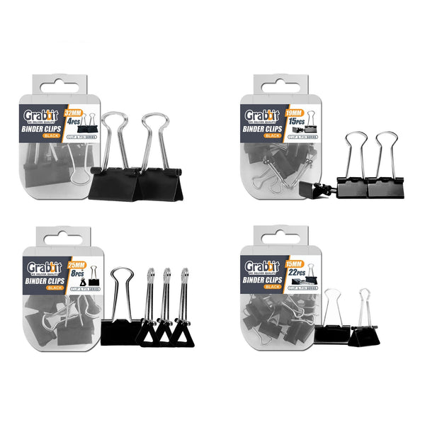 Grabbit Black Binder Clips