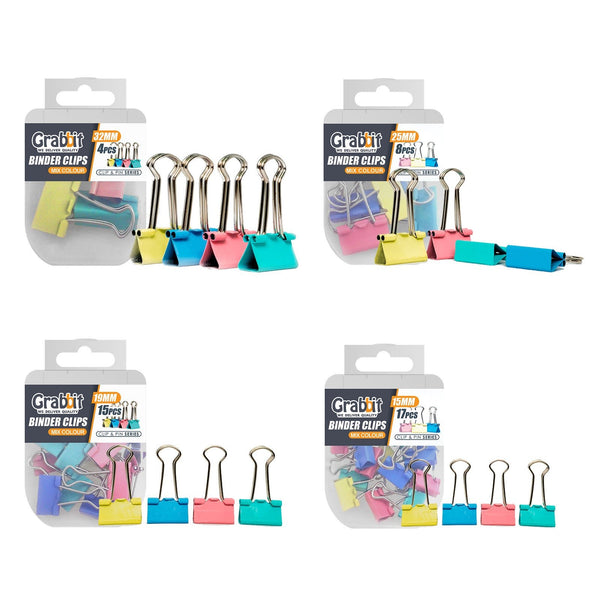 Grabbit Mix Colour Binder Clips