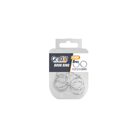 Grabbit Silver Book Ring 19mm (8pcs/box)