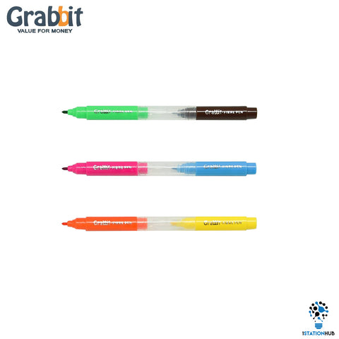Grabbit Mini Fiber Pen | 6 Pens - Set 1