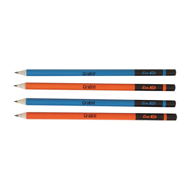 Grabbit 2B Newspaper Pencil | 4 Pencils | Blue Orange