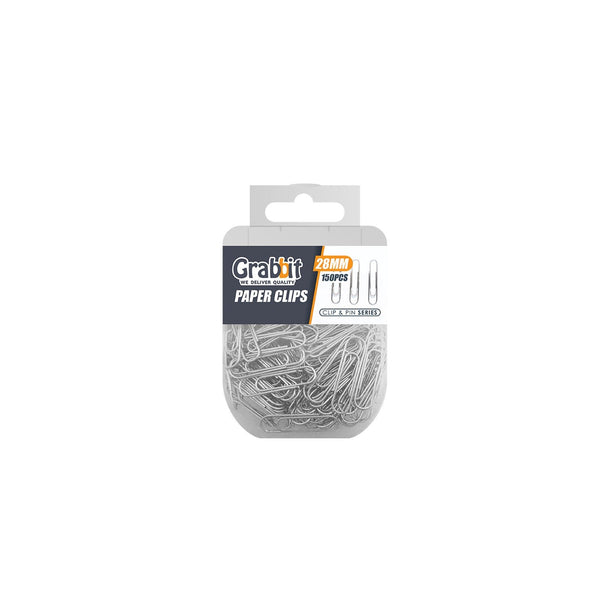 Grabbit 28mm Round Silver Paper Clips