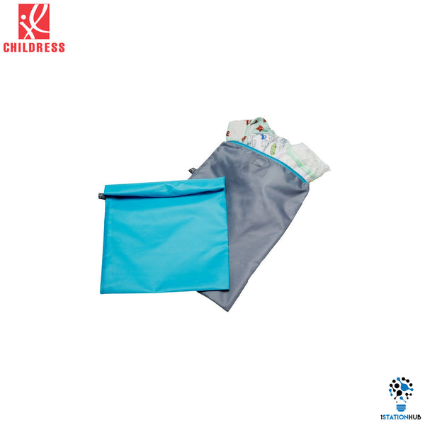 J.L. Childress 2pc Wet-to-go Wet Bags - Teal/ Grey