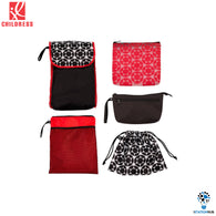 J.L. Childress 5-in-1 Diaper Bag Organizer | Black.Red Floral