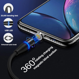 Fast Charging Magnetic Charging & Data Cable |  Round Shape