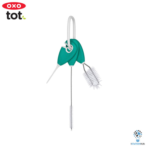 Oxo Tot On-the-Go Straw & Sippy Cup Top Cleaning Set | Teal