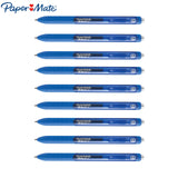Papermate Inkjoy Gel Ink Pen 0.7mm | Pack of 9 Pens | Blue