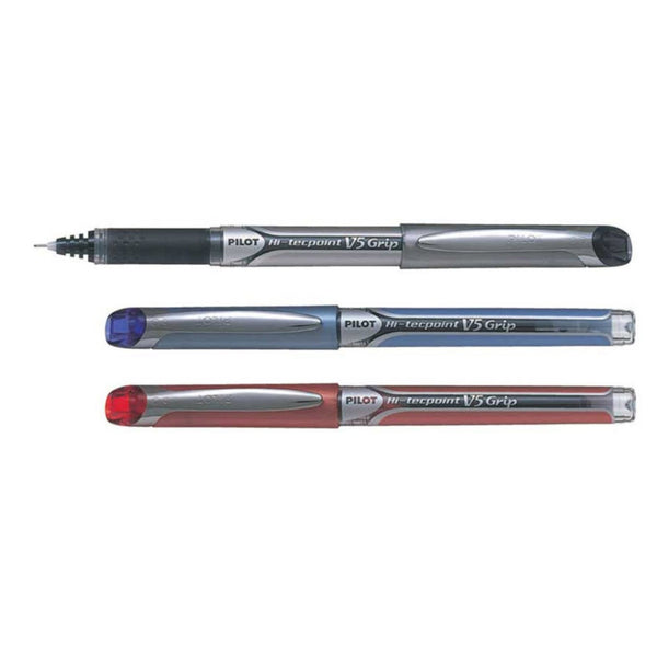 Pilot Hi-Techpoint V5 Grip Pen 0.5mm | Black, Blue, Red