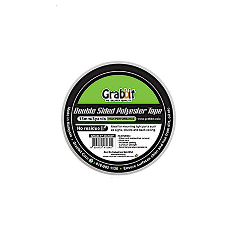 Grabbit Double Sided Polyester Tape (1 Roll) | 18mmx8yard