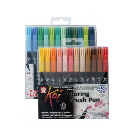 Sakura Koi Colouring Brush Pen | 48 Colour Set
