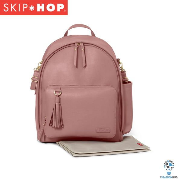 Skip Hop Greenwich Simply Chic Diaper Backpack | Dusty Rose