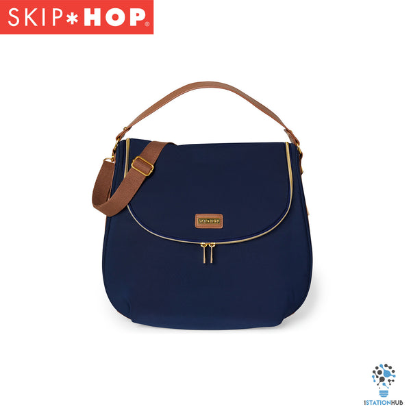 Skip Hop Curve Satchel Diaper Bag - Navy