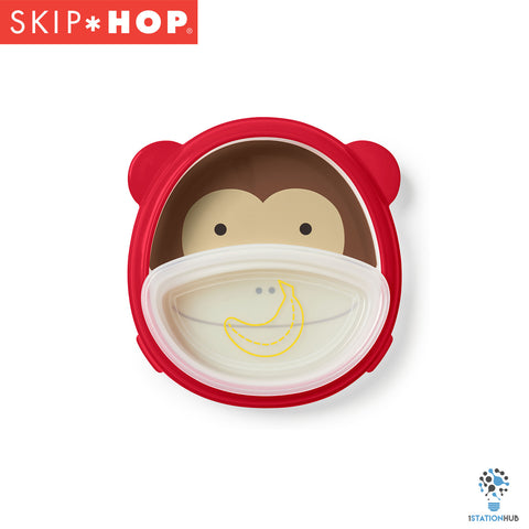 Skip Hop Zoo Smart Serve Plate & Bowl Set | Monkey