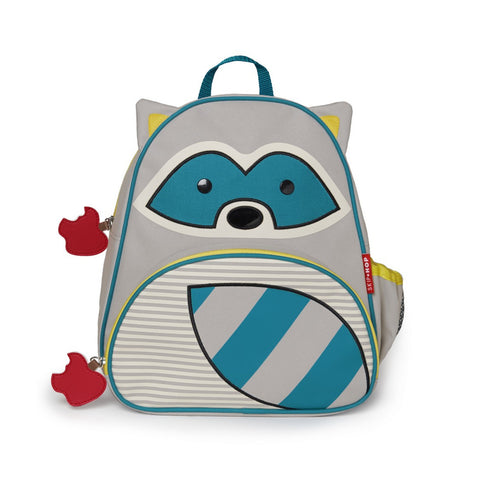 Skip Hop Zoo Backpack | Kinder Toddler Pre-School Bag - Raccoon