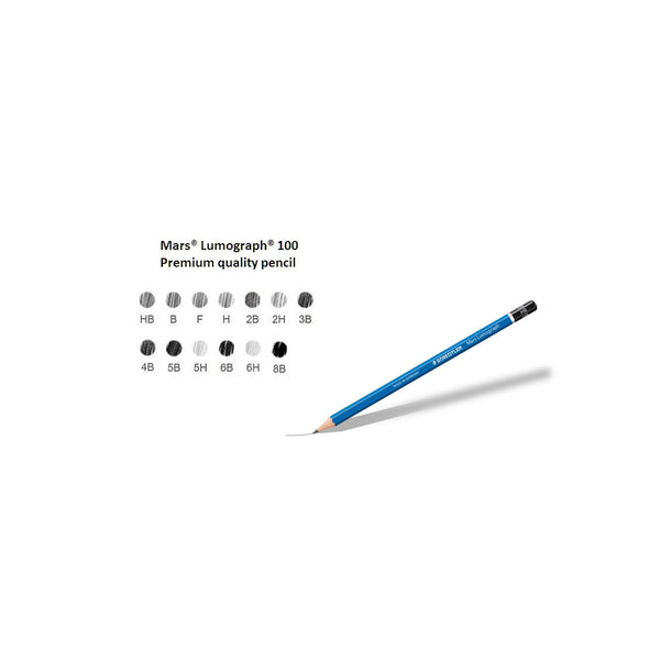Staedtler Mars Lumograph 100 Premium Quality Pencils | Pack of 12 Pencils