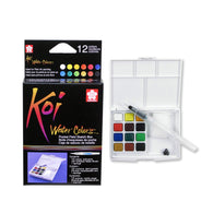 Sakura Koi Watercolour Pocket Field Sketch Box | 12 Colours