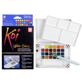 Sakura Koi Watercolour Pocket Field Sketch Box | 24 Colours