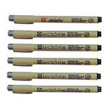 Sakura Pigma Micron & Brush Set | Pack of 6 Pens