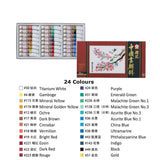Sakura Traditional Chinese Painting Colour Set - 24 Colours