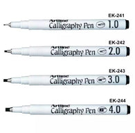 Artline Calligraphy Pen | Black Ink | 1.0, 2.0, 3.0, 4.0mm