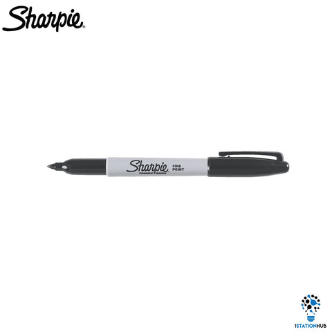 Sharpie Black Fine Nib Set | 6 Permanent Marker Pen