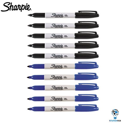 Sharpie Permanent Marker Pen Fine Point | 10 Pens