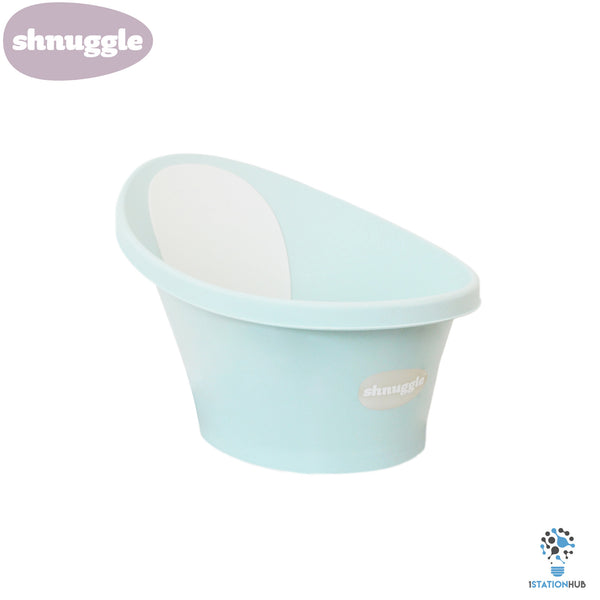 Shnuggle Baby Bath Tub | Aqua with Light Grey