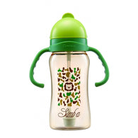 Simba PPSU Training Cup Straw Bottle | Green Camouflage