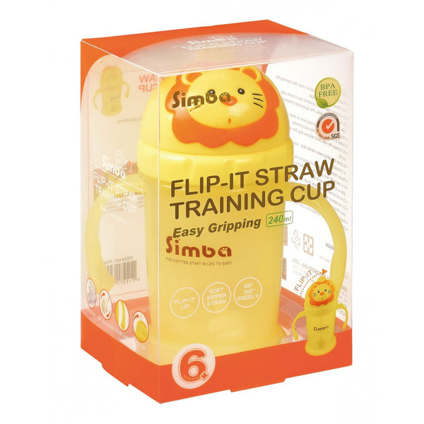 Simba Flip-It Training Cup | Easy Grip Bottle 240ml