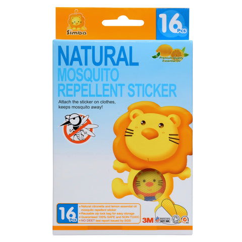 Simba Natural Mosquito Repellent Patch Stickers | No Deet