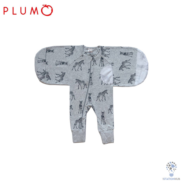 Plum Australia Swaddle Suit 1.0 Tog - Grey Zebra