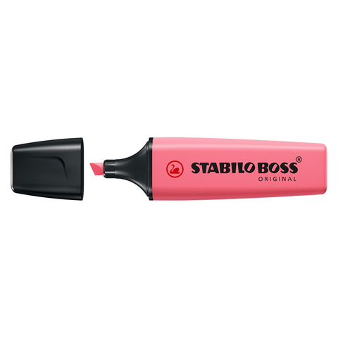 Stabilo Boss Original Highlighter | Pastel Colour - Cherry Blossom Pink