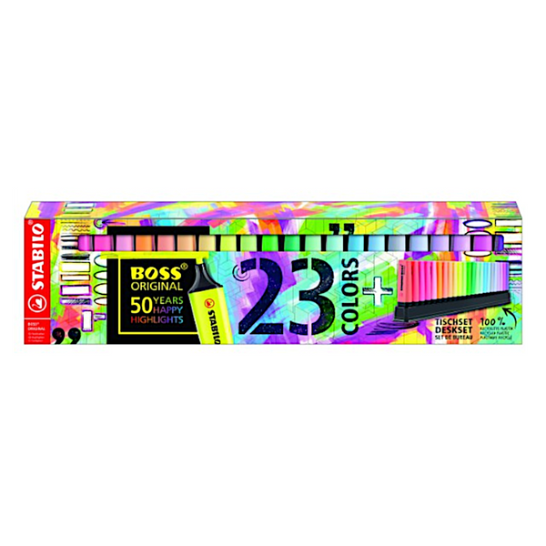 Limited Edition!! Stabilo Boss Original Highlighters 23 Colours Deskset