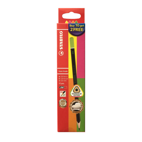 Stabilo 2B Exam Grade Pencil Triangular Edition