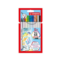 Stabilo Pen 68 Brush | Pack of 12 Pens
