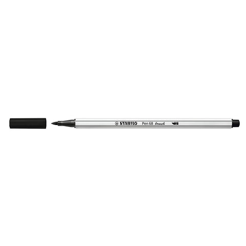 Stabilo Pen 68 Brush Pens - Black