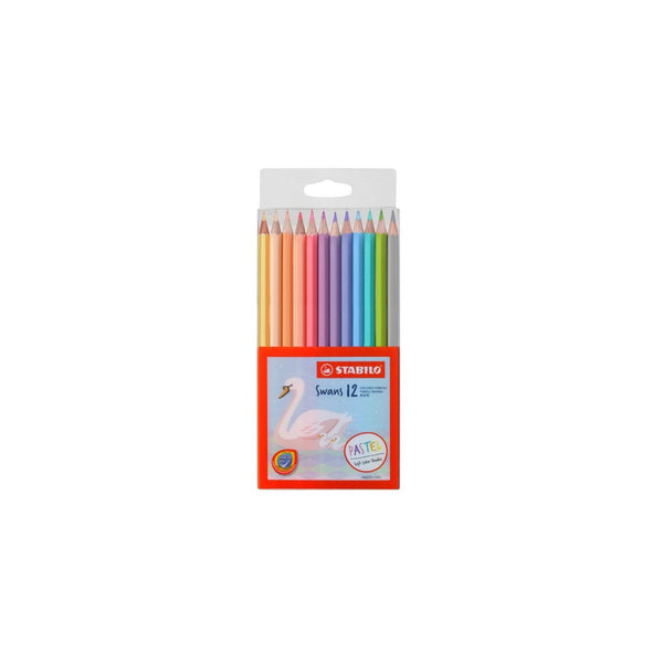 Stabilo Swans 12 Soft Pastel Colour Pencils