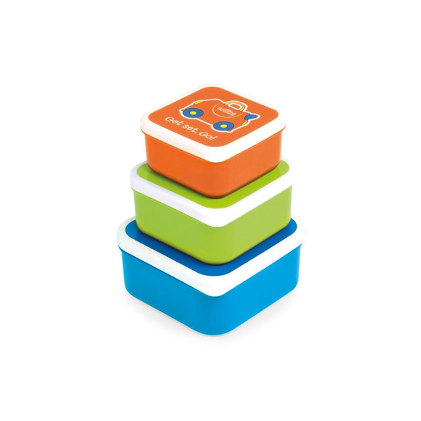 Trunki Snack Pots - Blue, Green, Orange