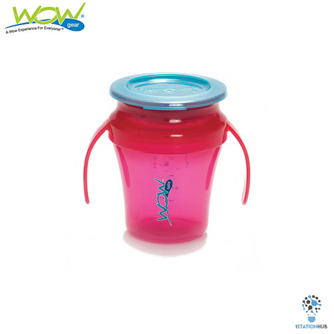 JUICY! WOW Baby® Translucent Spill Free Training Cups - Pink