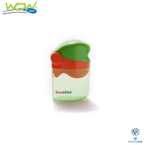 Wow Gear SnackPals Snack Dispenser | Green.Orange