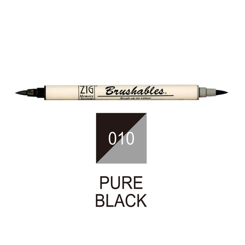 Kuretake Memory System Brushable | Pure Black