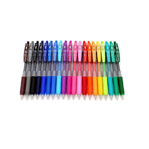 Zebra Sarasa Push Clip | Retractable Gel Ink Pen Set | 0.5mm