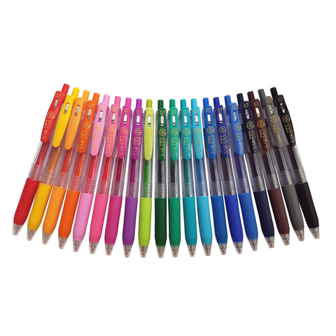 Zebra Sarasa Push Clip  | Retractable Gel Ink Pen Set | 0.7mm