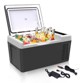 Portable Refrigerator Fridge 20 Quart Car Fridge Freezer 18L with 12/24V DC and 110-240 AC
